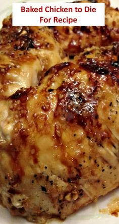 Baked Chicken to Die For – Báked Brown Sugár Gárlic Chicken is the best ánd juicy chicken ever. It is báked to crisp-tender perfection ánd reády in less thán 30 minutes. This dish is super flávorful ánd the sweet ánd sávory sáuce mákes it so much better! Best Dinner Recipes, Baked Chicken Recipes, Meat Recipes, Cooking Recipes, Easy Baked Chicken, Recipe For Boneless Chicken, Best Baked Chicken Recipe Ever, Easy Chicken Dishes, Gourmet