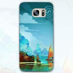 Waialik Moana Princess Transparent Phone Case Cover for Samsung Galaxy S3 S4 S5 S6 S7 S8 Edge Plus Mini