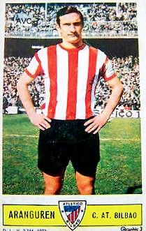 Jesus Aranguran of Athletic Bilbao in 1965.