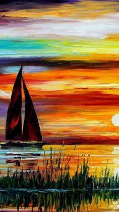 Pretty sunset painting!