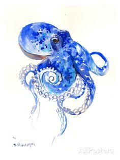 Octopus 2 Affiche par Suren Nersisyan sur AllPosters.fr