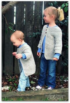 Looking for your next project? You're going to love Girls Classic Cardigan by designer Holland Designs.