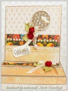 cudawianki...z mojej wyobraźni: ślub- kartka w pudełku