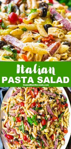 Low Unwanted Fat Cooking For Weightloss My Italian Pasta Salad Is Potluck And Picnic Ready Surprise Your Friends With A Peppadew And Pepperoncini Juice Dressing Over A Tangy Penne Salad. Chicken Pasta Recipes, Easy Pasta Recipes, Pasta Salad Recipes, Healthy Salad Recipes, Penne Pasta Salads, Pasta Salat, Recipe Pasta, Healthy Dishes, Drink Recipes