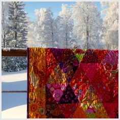 I love how this quilt is photographed using the contrast of colors and values... Kaffe Fasset fabrics