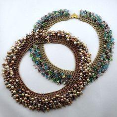Fireworks Necklace by Jill Wiseman in B&B Fringe Necklace, Seed Bead Necklace, Necklace Types, Crystal Necklace, Beaded Jewelry Designs, Handmade Jewelry, Beads And Wire, Jewelry Crafts, Jewelery