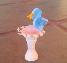 3D Quilling - Fountain  Bird                                                                                                                                                                                 More
