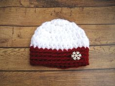 Your place to buy and sell all things handmade Baby Winter Hats, Girls Winter Hats, Baby Girl Hats, Girl With Hat, Crochet Newsboy Hat, Crochet Owl Hat, Crochet Baby Booties, Baby Christmas Hat, Christmas Sweaters