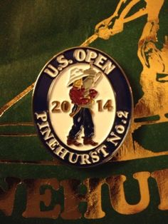 2014 US OPEN Pinehurst #2 Golf Club 2 Sided Ball Marker Poker Chip Style USGA