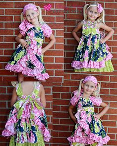 Shasta's Skirt Wrap and Apron Set  (18M to 8)    Pattern by CreateKidsCouture