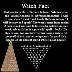 ~ Witch Fact