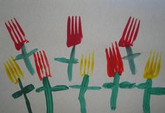Pintura com garfos
