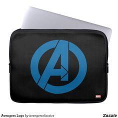 Shop Avengers Logo Laptop Sleeve created by avengersclassics. Neoprene Laptop Sleeve, Laptop Sleeves, Avengers Symbols, Computer Sleeve, Custom Laptop, Front Bottoms, Volkswagen Logo, Day Use, Marvel
