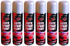 6 x 300ml Silver Wheel Auto Spray Paint Aerosol Spray Cans Ideal 4 Cars & Vans