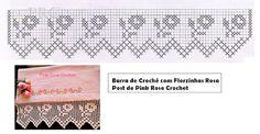 Pink Rose Crochet: Barra de Crochê com Florzinhas Rosa