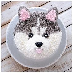 Woof you baby husky Pretty Cakes, Cute Cakes, Dog Cakes, Cupcake Cakes, Wolf Cake, Peanut Butter For Dogs, Baby Huskies, Puppy Cake, Puppy Cupcakes