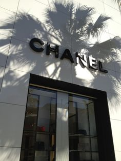 Chanel store , Palm shadow