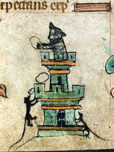 This cat resembles a dog.   23 Medieval Cat Paintings That Are So Ugly You Could Cry