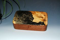 Handmade Wood Oyster Box  Buckeye Burl on Mahogany  by BurlWoodBox, $44.00