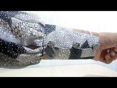 cara menjahit lengan kerut dengan manset panjang - YouTube