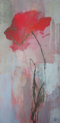 uitgebloeide klaproos Abstract Flowers, Abstract Watercolor, Abstract Art, Floral Artwork, Paintings I Love, Arte Floral, Love Art, New Art, Canvas Art
