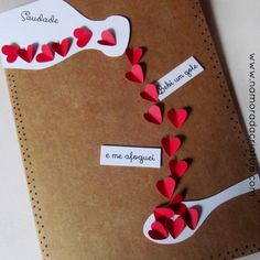 Express your love with the cutest Valentines Day card ideas presented here. Here you'll find over 40 easy & adorable DIY Valentines Day Cards for him. Handmade Birthday Cards, Diy Birthday, Valentine Crafts, Valentine Day Cards, Love Cards, Diy Cards, Craft Gifts, Diy Gifts, Diy And Crafts