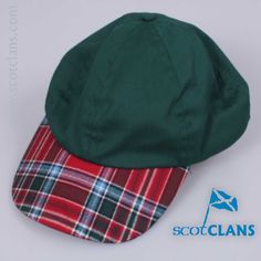 baseball cap with MacBean tartan skip - from ScotClans