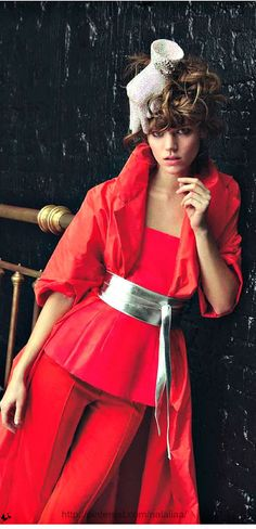 """Dior Haute Couture - Vogue Paris editorial """"Couture"""" from May 2013, So divine in red! TG"""