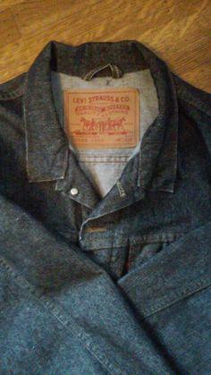 Black Denim Levi Jacket / Black Jean Jacket / by thesoupison
