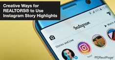 Creative Ways for REALTORS® to Use Instagram Story Highlights | myRealPage Blog Story Highlights, Instagram Story, Real Estate, Creative, Blog, Real Estates, Blogging