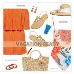 """Vacation Ready"" by marion-fashionista-diva-miller ❤ liked on Polyvore featuring Hat Attack, Mara Hoffman, Alice + Olivia, Sensi Studio, Emanuela Caruso, Kim Rogers, Shiseido, By Terry, vacation and vacationstyle"