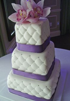 Bridal shower cake except 2 tier without the flowers on top