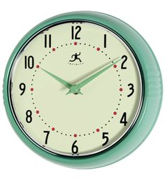 battery operated turquoise retro wall clock | Home > Decor > Home Decor > Clocks > Retro Wall Clock
