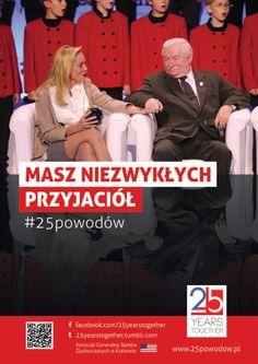 25 years together! Wraz z Konsulatem USA w Krakowie zorganizowaliśmy łańcuch ludzki składający się z niemal 300 osób. To wszystko, aby uczcić 25 lat współpracy polsko-amerykańskiej.
