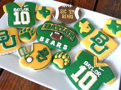 Hey, I found this really awesome Etsy listing at https://www.etsy.com/listing/151252684/baylor-bears-decorated-sugar-cookies