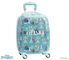 6a963abf00 Mackenzie Aqua Disney Frozen Hard Sided Luggage