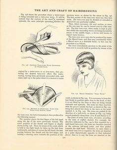 Antique Books and Old Collectible Things: Hairdressing Book - FREE Vintage Hair Dressing Instructions Hair Patterns, Dress Making Patterns, Wet Set, 1920s Hair, Hair Setting, Retro Waves, Love Your Hair, Hair Raising, Vintage Hairstyles