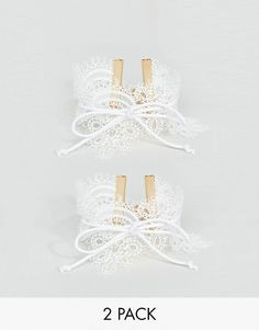 Get this Asos's bracelet now! Click for more details. Worldwide shipping. ASOS Pack of 2 Wraparound Lace Bracelet - White: Bracelet by ASOS Collection, Pack of two, Delicate lace, Tied bow design, Adjustable chain length, Lobster clasp fastening, 50% Metal, 50% Textile. Score a wardrobe win no matter the dress code with our ASOS Collection own-label collection. From polished prom to the after party, our London-based design team scour the globe to nail your new-season fashion goals with…