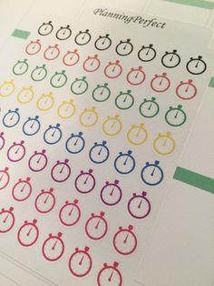 Stopwatch Time Stickers for Erin Condren by PlanningPerfect  #planner #stickers #erincondren #lifeplanner #kikkik #plumpaperplanner #filofax #planning #scrapbook #stopwatch #stop #watch #time #running #runner #mile #marathon #best