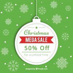 Fundo de venda de Natal em estilo retro