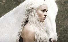 horses game of thrones emilia clarke house targaryen girls with horses 1366x768 wallpaper