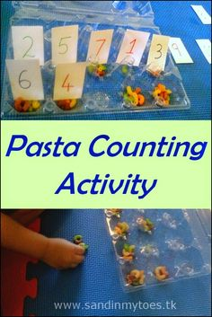 Pasta Counting Activity | Sand In My Toes