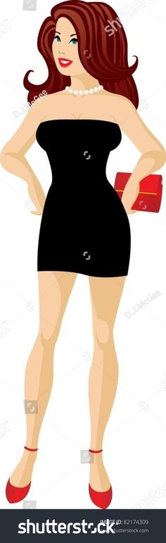 Little Black Dress No. 2 with Red Accessories