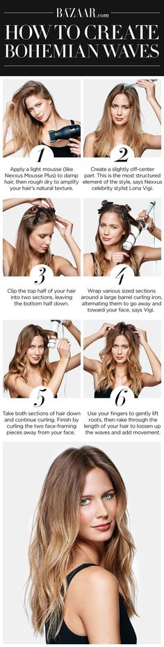 How to get the perfect 1970s bohemian-inspired hair waves.