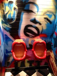 """""""Toilet"""" at James Dean Diner in Prague"""