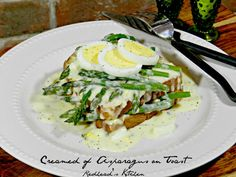 Creamed of Asparagus on Toast Recipe (no meat!)  My grandmother made this all the time.  Pure comfort food.