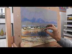 soft pastel landscape demonstration by, Nathalie JAGUIN - YouTube