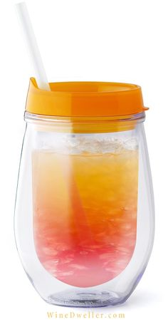 Our fun Summer Sippin' Vino Tumblers are ideal for all your summertime outdoor fun! Great for the beach, golf course, boating, poolside, camping, picnics, etc. Keep the sand & bugs out and wine in with slip on thumb slide-lid. BPA free acrylic plastic.
