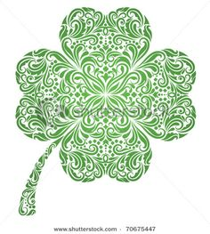 Green pattern in a clover shape