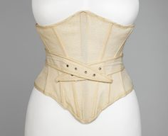 A 1902 lightly boned, wool bathing corset. Yes, they wore corsets under their swimsuits.